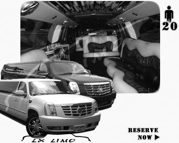 Cadillac Escalade 20 passenger SUV Limousine for rental in Buffalo, NY