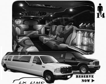 Lincoln Excursion SUV Limo for hire in Buffalo, NY